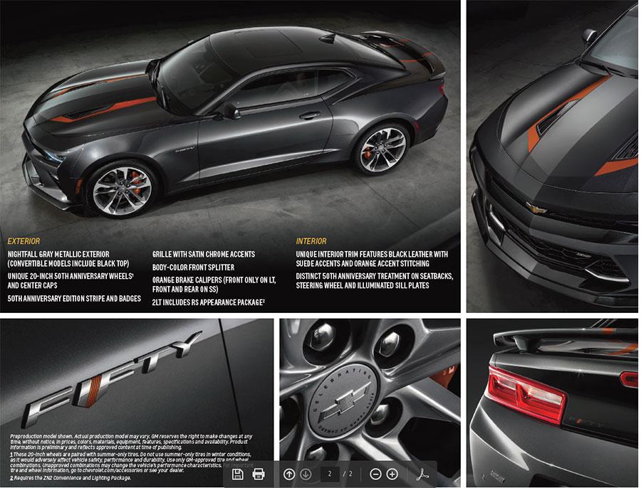 50th Anniversary 2016 Camaro pics