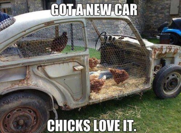 Got a new car. Chicks Love it! LOL!