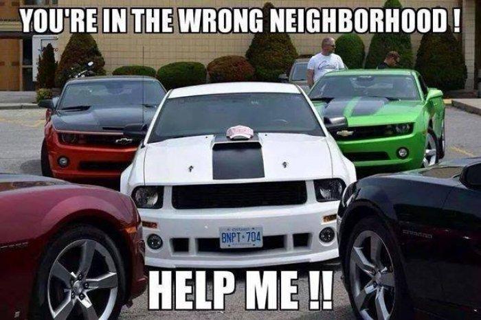 You're in the wrong neighborhood