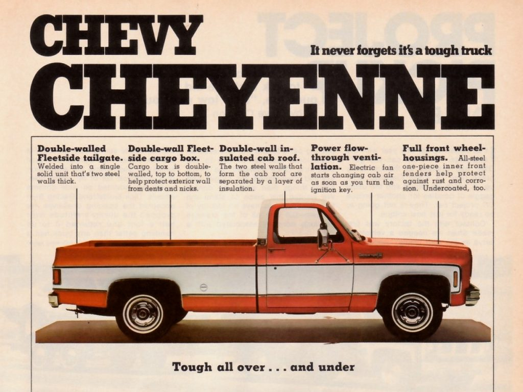 Vintage Chevy Cheyenne Ad