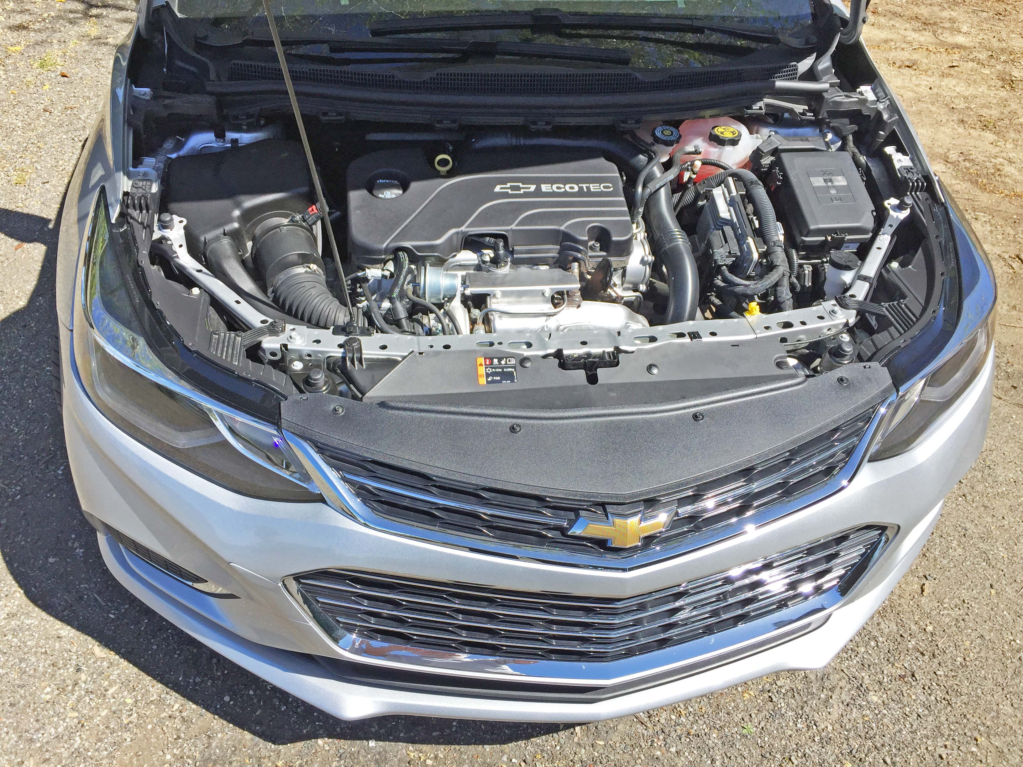 Under the hood 2017 Chevy Cruze HB