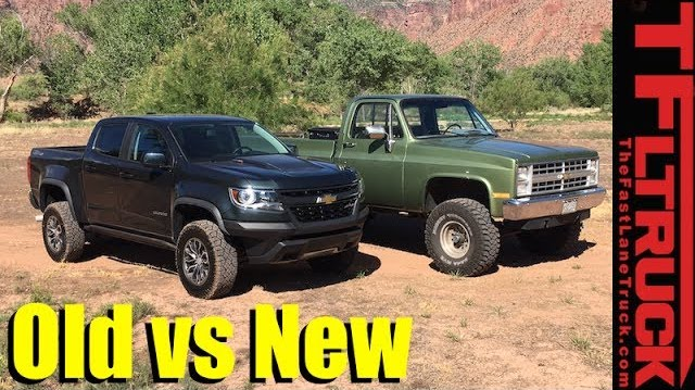 Old vs. New Off-Road Technology: 2017 Chevy Colorado ZR2 vs. 1985 Chevy K10 Big Green (Video) – The Fast Lane Truck