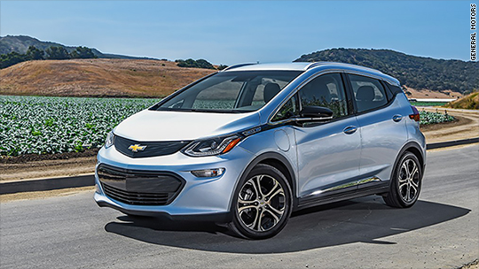consumer reports named top picks Chevrolet Bolt