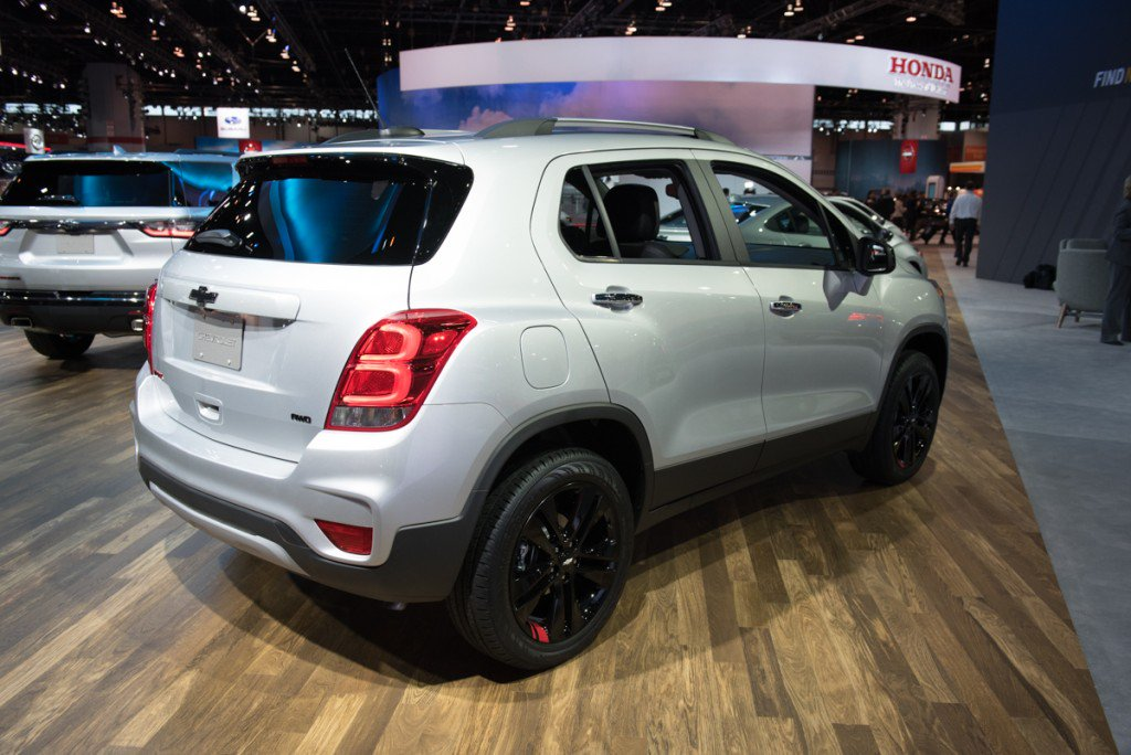 Chevy Trax sales numbers for January 2018 rear Trax view
