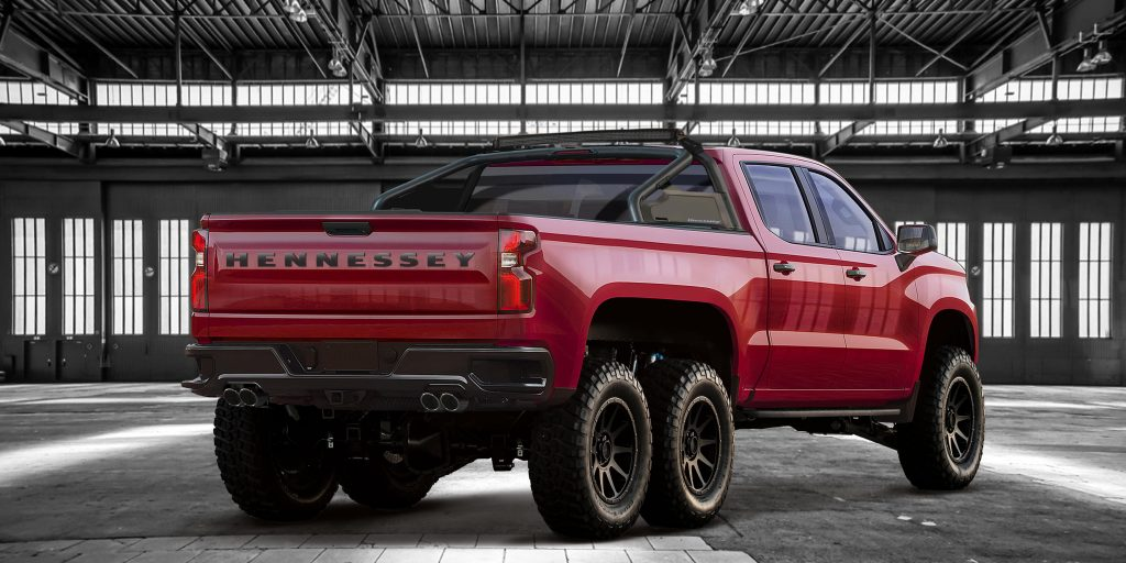 2019 Hennessey Goliath red exterior rear shot