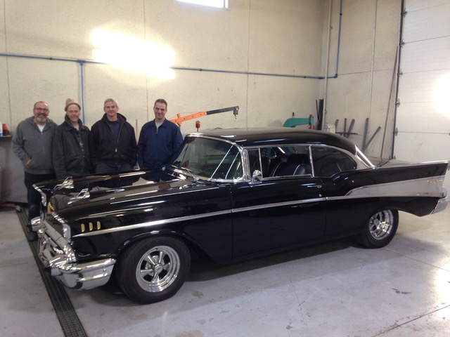Man finally restores 1957 Chevrolet Bel Air