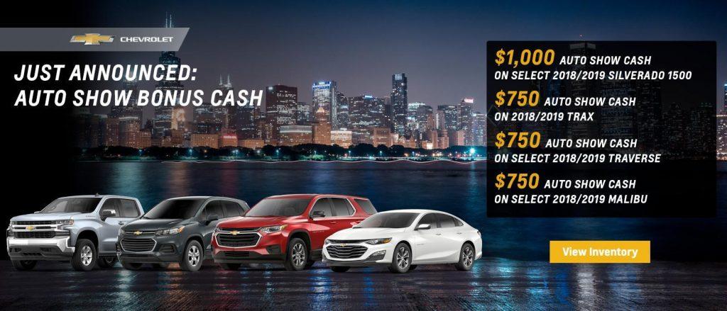 2019 Chevrolet Auto Show incentives