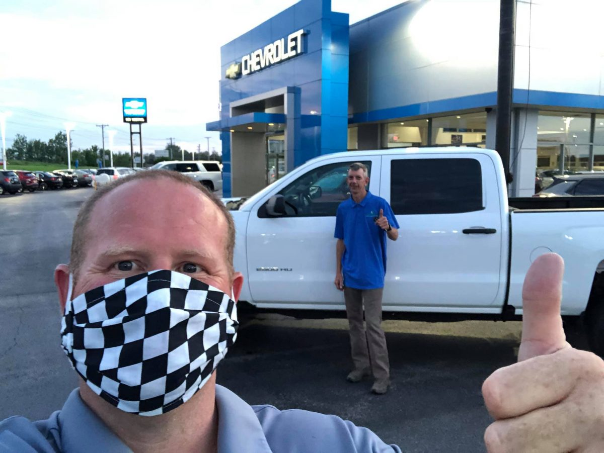 Rick Jacobsen delivers a GM Certified Silverado at Ron Westphal Chevrolet